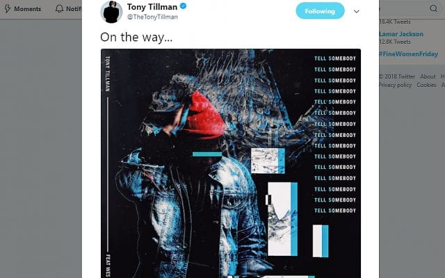 Tony Tillman Single Announcement